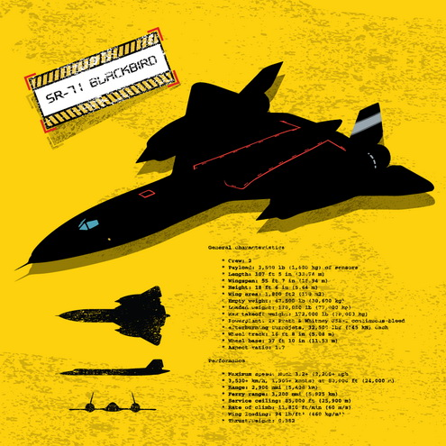 _Vector - SR-71 Blackbird Silhouette Prev2 by DragonArt