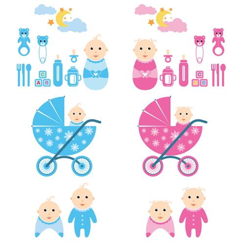 וקטור של תינוקות להורדה