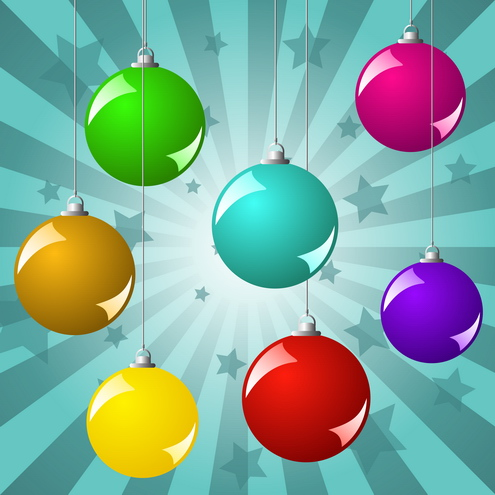 Vector - Christmas Balls Background 02 by DragonArt