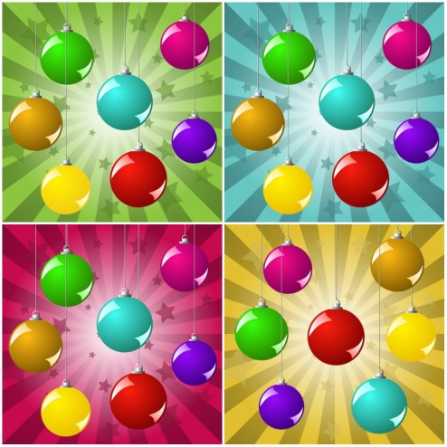 _Vector - Christmas Balls Background CS by DragonArt