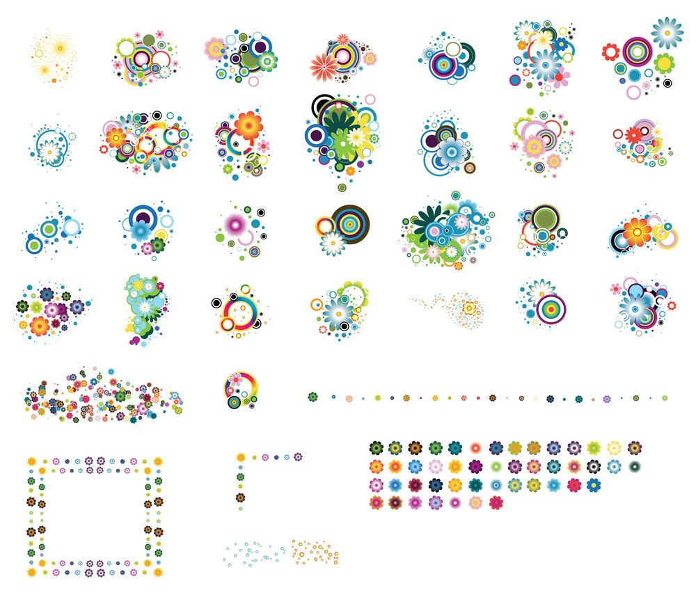 _Vector - Colorful Flowers CS by DragonArt