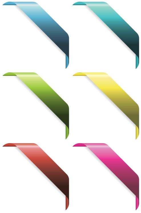 _Vector - Corner Ribbons CS by DragonArt