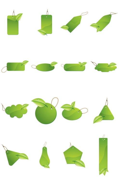 _Vector - Green Leaf  Labels CS by DragonArt