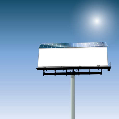 Vector - Solar Powered Billboard 05 by DragonArt