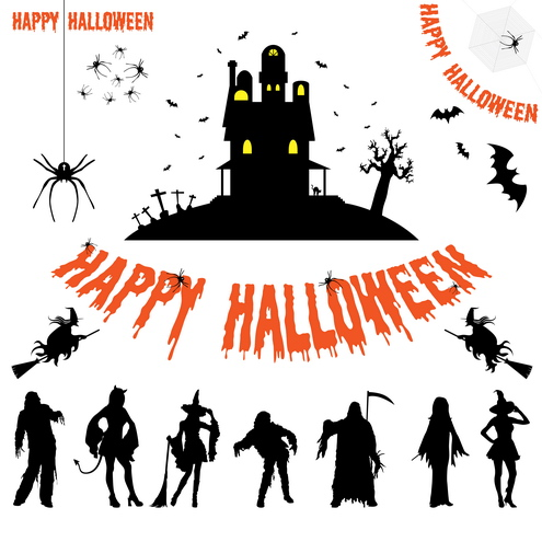 Vector - Halloween Silhouettes by DragonArt