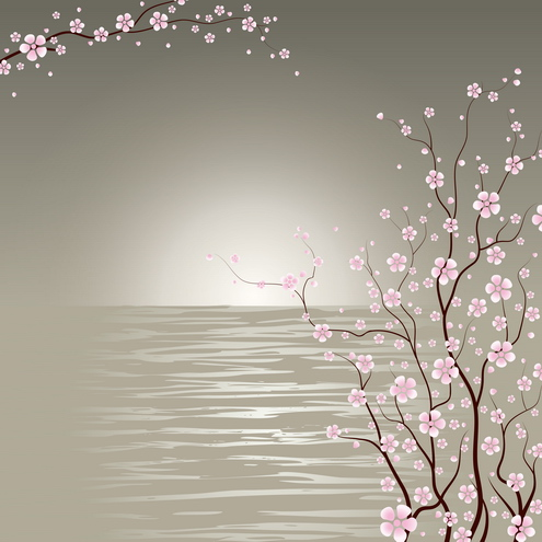 Vector - Japanese Cherry Blossoms 01 by DragonArt