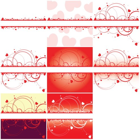 _Vector - Valentine Hearts Frame CS by DragonArt