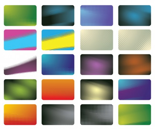 business cards backgrounds. 20 Halftone Business Cards 2